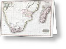 1809 Pinkerton Map Of Southern Africa Greeting Card