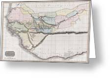 1813 Pinkerton Map Of Western Africa Greeting Card