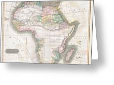 1813 Thomson Map Of Africa Greeting Card