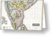 1814 Thomson Map Of India Greeting Card