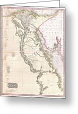 1818 Pinkerton Map Of Egypt Greeting Card