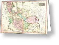 1818 Pinkerton Map Of Persia  Greeting Card
