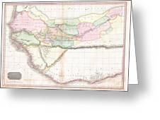 1818 Pinkerton Map Of Western Africa  Greeting Card