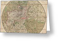 1820 Mogg Pocket Or Case Map Of London Greeting Card