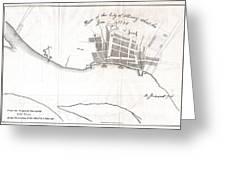 1820 Yates Map Of Albany Circa 1770 Greeting Card