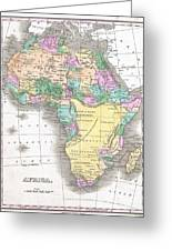 1827 Finley Map Of Africa Greeting Card