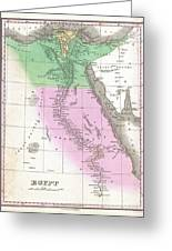 1827 Finley Map Of Egypt Greeting Card