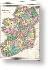 1827 Finley Map Of Ireland  Greeting Card
