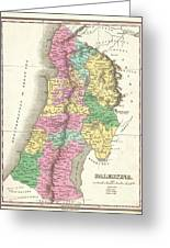 1827 Finley Map Of Israel  Palestine Holy Land Greeting Card