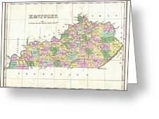 1827 Finley Map Of Kentucky Greeting Card