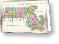 1827 Finley Map Of Massachusetts Greeting Card