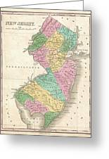 1827 Finley Map Of New Jersey  Greeting Card