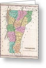 1827 Finley Map Of Vermont Greeting Card
