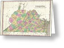 1827 Finley Map Of Virginia Greeting Card