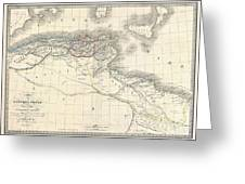 1829 Lapie Historical Map Of The Barbary Coast In Ancient Roman Times Greeting Card