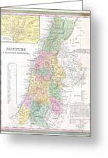 1836 Tanner Map Of Palestine  Israel  Holy Land Greeting Card