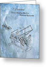 1836 Wood Molding Machine Greeting Card