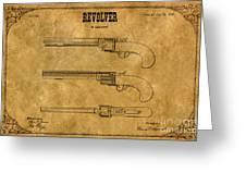 1837 Leavitt Revolver Patent Art 1 Greeting Card