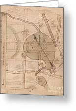1840 Manuscript Map Of The Collect Pond And Five Points New York City Greeting Card