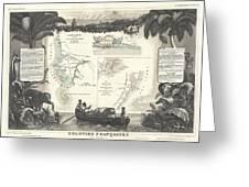 1852 Levassuer Map Of Senegal Senegambia And Madagascar Greeting Card
