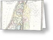 1852 Philip Map Of Palestine  Israel  Holy Land Greeting Card