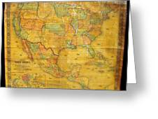 1854 Jacob Monk Wall Map Of North America Greeting Card