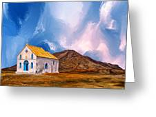 1855 Church At Cape Verde Greeting Card