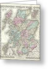 1855 Colton Map Of Scotland Greeting Card