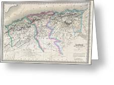 1857 Dufour Map Of Algeria Greeting Card