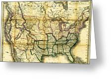 1861 United States Map Greeting Card