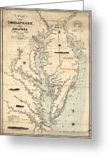 1862 Chesapeake Bay Map Mixed Media By Dan Sproul