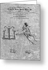 1869 Life Preserver Patent Charcoal Greeting Card