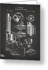 1875 Colt Peacemaker Revolver Patent Artwork - Gray Greeting Card
