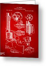 1875 Colt Peacemaker Revolver Patent Red Greeting Card