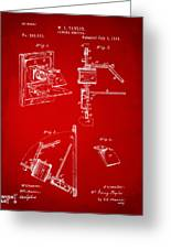 1881 Taylor Camera Obscura Patent Red Greeting Card