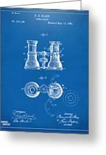 1882 Opera Glass Patent Artwork - Blueprint Greeting Card