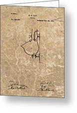1882 Urinal Patent Greeting Card