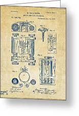 1889 First Computer Patent Vintage Greeting Card