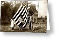 1890 The Young Patriots Greeting Card by Historic Image
