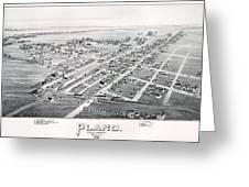1890 Vintage Map Of Plano Texas Greeting Card