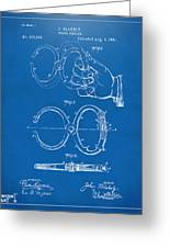 1891 Police Nippers Handcuffs Patent Artwork - Blueprint Greeting Card