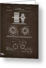 1891 Tesla Electro Magnetic Motor Patent Espresso Greeting Card