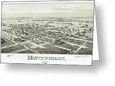 1891 Vintage Map Of Whitewright Texas Greeting Card