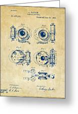 1892 Barker Camera Shutter Patent Vintage Greeting Card