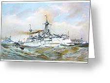 1895 - The Brandenburg Squadron At Sea - Color Greeting Card