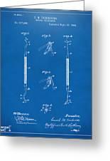1896 Dental Excavator Patent Blueprint Greeting Card