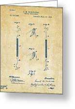 1896 Dental Excavator Patent Vintage Greeting Card