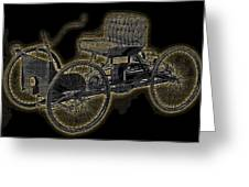 1896 Quadricycle Henry Fords First Car Greeting Card