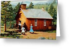 1896 School House Greeting Card