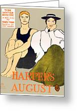 1897 - Harpers Magazine Poster - Color Greeting Card